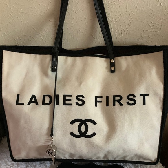 801453b2c59c CHANEL Bags | Sold Auth Ladies First Shopping Tote Bag | Poshmark